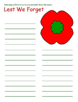 REMEMBRANCE DAY ACTIVITIES, BUNDLE 15 PAGES, REMEMBRANCE DAY CANADA