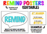 REMIND Posters [EDITABLE]