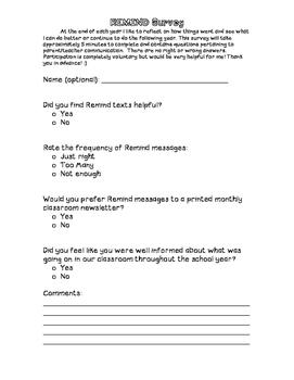 REMIND Survey