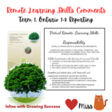 REMOTE LEARNING VIRTUAL - Ontario Learning Skills Comments