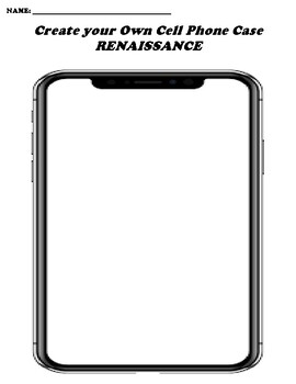 RENAISSANCE CREATE YOUR OWN CELL PHONE COVER