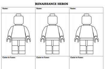 RENAISSANCE HEROES:  Famous People of the Renaissance Lesson and Activity