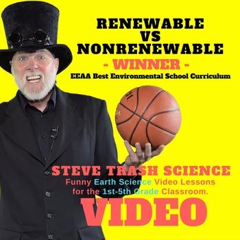 RENEWABLE vs NONRENEWABLE - Video and Review Questions - Grades 1-5