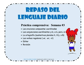 REPASO DEL LENGUAJE DIARIO - Semana #3