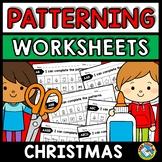 REPEATING PATTERNS WORKSHEETS (CHRISTMAS ACTIVITY KINDERGA