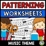 REPEATING PATTERNS WORKSHEETS CUT AND PASTE (MUSIC ACTIVIT