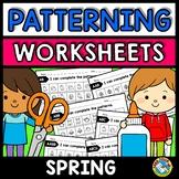 REPEATING PATTERNS WORKSHEETS (SPRING ACTIVITY KINDERGARTE