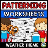 REPEATING PATTERNS WORKSHEETS (WEATHER ACTIVITY KINDERGART