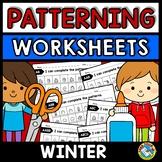 REPEATING PATTERNS WORKSHEETS (WINTER ACTIVITY KINDERGARTE