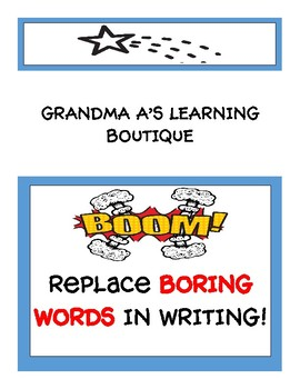 REPLACE BORING WORDS IN WRITING