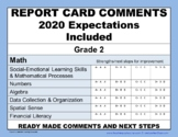 REPORT CARD COMMENTS: MATH - EDITABLE