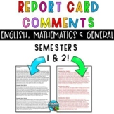 EDITABLE Report Card Comments - includes End Of Year Report Comments