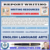 REPORT WRITING - 11 WORKSHEETS WITH ANSWERS