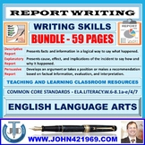 REPORT WRITING - CLASSROOM RESOURCES - BUNDLE