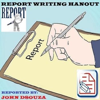 REPORT WRITING: HANDOUT #flamingofriday