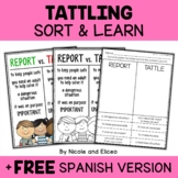 Tattling vs Reporting Sort Activity