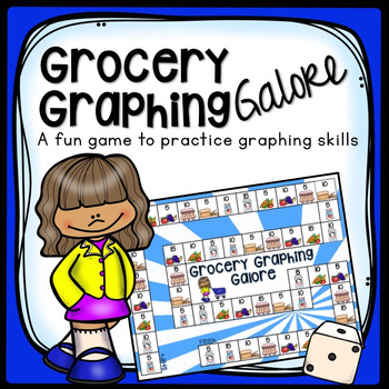REPRESENT AND INTERPRET DATA BAR GRAPH PRACTICE GROCERY BOARD GAME