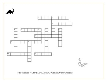 REPTILES: A CHALLENGING CROSSWORD PUZZLE