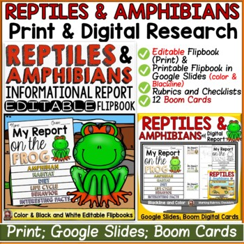 ANIMAL REPORT: REPTILES AND AMPHIBIANS: INFORMATIVE WRITING