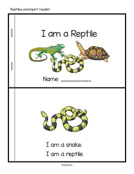 REPTILES Math, Science and Literacy Activities and Centers for Preschool & Pre-K