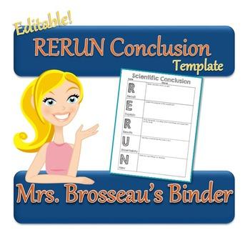 RERUN Conclusion Template - FREE