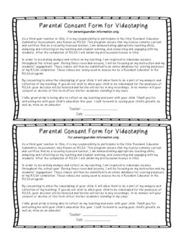 RESA - Videotaping Consent Parent Letter