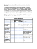RESCA-E Template | Speech Therapy Assessment