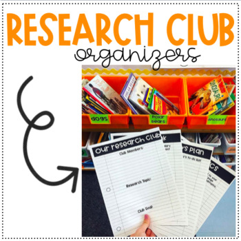 RESEARCH CLUBS! Organizers for ideas, notes, goals & more!