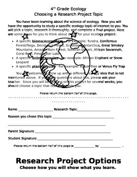 RESEARCH Project - Ecology