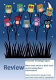 RESEARCH SKILLS POSTER WISE OWLS REVIEW 4 of 4
