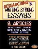 ESSAYS: Research & Write Them ~ 8 Texts: Natural Disaster ~ Guide ~ Examples