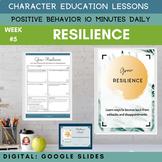 RESILIENCE   Google Slides   Positive Behavior   Daily Cha