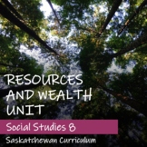 RESOURCES and WEALTH Unit - Saskatchewan Social Studies 8