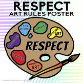 RESPECT Art Classroom Rules Poster