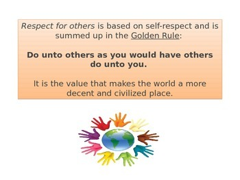 RESPECT -Character trait to share