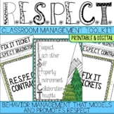Respect Activities & Classroom Behavior Management Plan fo
