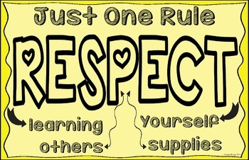 RESPECT Classroom Rule Poster 11x17