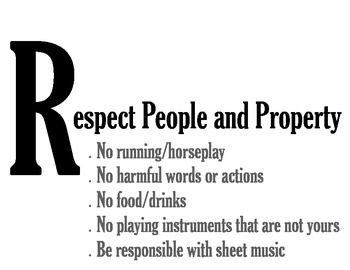RESPECT Orchestra Classroom Rules