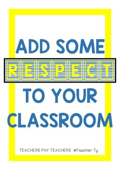 RESPECT POSTER- blue and yellow