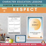 RESPECT | Print & Google | Daily Character Education Posit