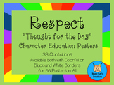 """33 RESPECT """"Thought for the Day"""" Character Education Posters"""