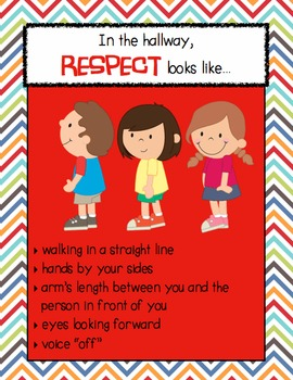 RESPECT looks like... School Setting Posters