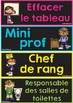 MENU DU JOUR et RESPONSABILITÉS -  French Classroom Jobs and Responsabilities
