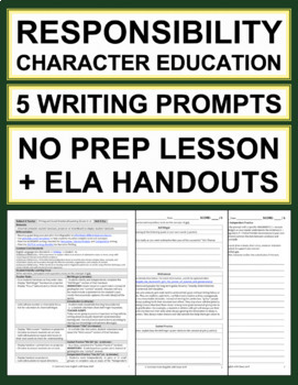 RESPONSIBILITY Activities: 5 Writing Prompts