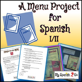 RESTAURANT: Menu Project for Spanish I