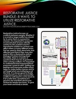 RESTORATIVE JUSTICE BUNDLE PACK 1