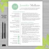 RESUME TEACHER Template For MS Word   + Educator Resume Writing Guide