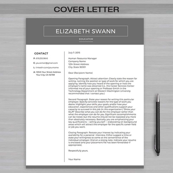 RESUME TEACHER Template For MS Word | + Educator Resume Writing Guide
