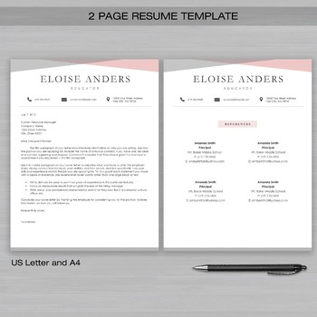 resume teacher template for word and apple pages the eloise