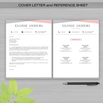 RESUME TEACHER Template For Word and Apple Pages -The Eloise